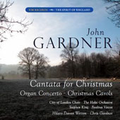 John Gardner: Cantata for Christmas; Organ Concerto; Christmas Carols / Stephen King, organ; City of London Choir; Paulina Voices; The Holst Orchestra; Wetton, C. Gardner