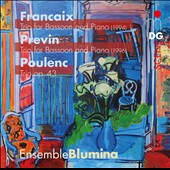 Francaix: Trio for Bassoon & Piano; Previn: Trio for Bassoon & Piano; Poulenc: Trio, Op. 43 / Blumina Ens.