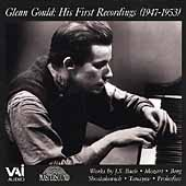 Glenn Gould - His First Recordings (1947-1952) - Bach, et al