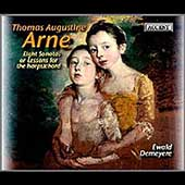 Arne: 8 Sonatas or Lessons for Harpsichord / Ewald Demeyere
