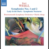 Weill: Symphony no 1 & 2, etc / Alsop, Bournemouth SO