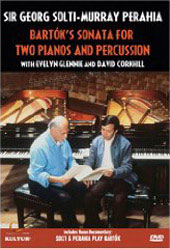 Bartok: Sonata for Two Pianos and Percussion / Solti & Perahia [DVD]