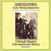 Beethoven: Late String Quartets / Colorado Quartet