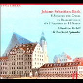 Johann Sebastian Bach: 6 Sonaten f&uuml;r Orgel f&uuml;r 2 Klaviere zu 4 H&auml;nden