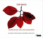 CPE Bach: Quartets for Flute, Viola, Cello and Pianoforte / Jon De Winne, Marten Boeken, Roel Dielttens