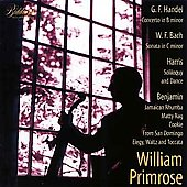 Handel, W.F. Bach, etc: Works for Viola / William Primrose