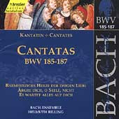 Edition Bachakademie Vol 56 - Cantatas BWV 185-187 / Rilling