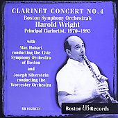 Baermann, Piston, Debussy, Weber: Concertos / Harold Wright