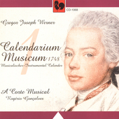G. J. Werner: Calendarium musicum Vol 1 / A Carte Musical