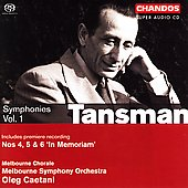 Tansman: Symphonies Vol 1 / Caetani, Melbourne SO