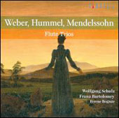 Flute Trios by Weber, Hummel & Mendelssohn / Wolfgang Schulz, flute; Franz Bartolomey, cello; Ferenc Bognar, piano