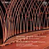 Mozart: Piano Concertos nos 19 & 23 / Ronald Brautigam, fortepiano