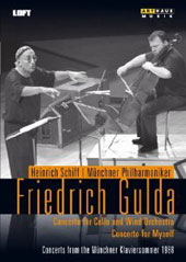 Friedrich Gulda: Cello Concerto & Concerto For Myself / Heinrich Schiff, cello, Gulda, piano; Munich Phil. (live, 1988) [DVD]