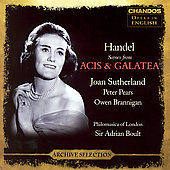 Handel: Acis & Galatea Scenes / Sutherland, Boult, et al