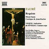 Fauré: Requiem, etc / Summerly, Beckley, Gedge, et al