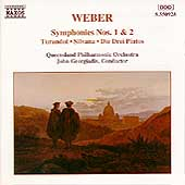 Weber: Symphonies no 1 & 2, etc / Georgiadis, Queensland PO