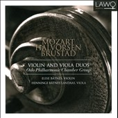 Mozart, Halvorsen, Brustad: Violin and Viola Duos / Elise Batnes, violin; Henninge Batnes Landaas, viola
