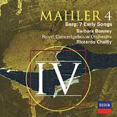 Mahler: Symphony no 4;  Berg: 7 Early Songs / Bonney, et al