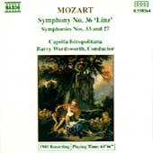 Mozart: Symphonies nos 27, 33 & 36 / Barry Wordsworth