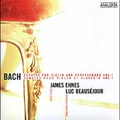 Bach: Sonatas for Violin & Harpsichord Vol 1 / Ehnes, et al