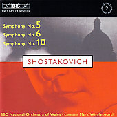 Shostakovich: Symphonies no 5, 6 & 10 / Wigglesworth, et al