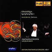 Elgar: Symphony no 1;  Berlioz: Overtures / Davis, Dresden