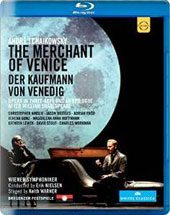Andreé Tchaikowsky: The Merchant of Venice, opera in 3 acts / Christopher Ainslie, Jason Bridges, Adrian Erod, Verena Gunz, Magdalena Hoffmann, David Stout, Charles Workman [Blu-ray]