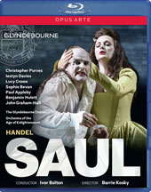 Handel: Saul / Christopher Purves, Iestyn Davies, Lucy Crowe, Sophie Bevan, Paul Appleby, Benjamin Hulett, John Graham-Hall. Orch. Of the Age of Enlightenment, Ivor Bolton (Glyndebourne, 2015) [Blu-ray]