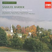 American Classics - Barber: Cello Sonata, Excursions, Summer Music / Stepansky, Margalit, Baxtresser, Robinson