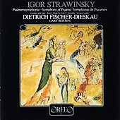Stravinsky: Symphony of Psalms, etc / Bertini