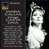 Maria Callas sings Casta Diva - Live and studio recordings from 1949 through two extraordinary live performances in 1955