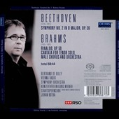 Beethoven: Symphony No. 2; Brahms: Rinaldo, cantata / Johan Botha. Bertrand de Billy