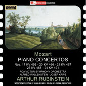 Mozart: Piano Concertos Nos. 17, 20, 21, 23, 24 / Arthur Rubinstein, piano