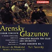 Arensky: Violin Concerto;  Glazunov / Turovsky, et al