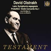 Lalo: Symphonie espagnole;  Prokofiev, etc / David Oistrakh