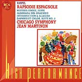 Ravel: Rapsodie Espagnole, etc / Martinon, Chicago Symphony