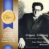 Gregory Ginzburg Live Recordings Vol 2