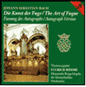 Bach: The Art of the Fugue / Ullrich Böhme