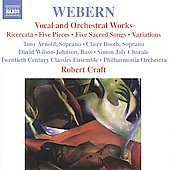 Webern: Vocal and Orchestral Works / Craft, Arnold, Booth, et al