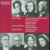 Music of Mahler, Brahms & Strauss