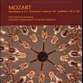 Mozart: Divertimento K. 251; Concerto for 2 Pianos, K. 365; Symphony No. 40 K. 550