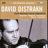 Russian Archives: David Oistrakh / violin concertos by Kabalevsky, Prokofiev, Shostakovich and Taneyev