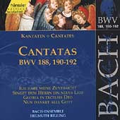 Edition Bachakademie Vol 57 - Cantatas BWV 188, 190-192