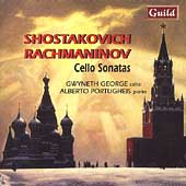 Shostakovich, Rachmaninov: Cello Sonatas /George, Portugheis