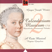 G. J. Werner: Calendarium musicum Vol 2 / A Carte Musical