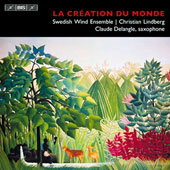 Works for alto saxophone & wind ensemble - works by Milhaud, Boutry, Creston, Emilsson / Claude Delangle, saxopphone
