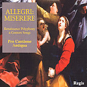 Allegri: Miserere;  Monteverdi, Tallis, etc / Brown, Bott