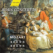 Mozart: Horn Concertos / Timothy Brown, Iona Brown, ASMF