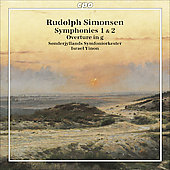 Simonsen: Symphonies no 1 & 2, Overture in G minor / Yinon, Sonderjyllands SO