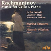 Rachmaninov: Music for Cello & Piano / Tarasova, cello